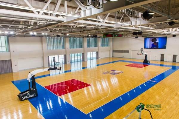 橡胶木规格篮球馆木地板