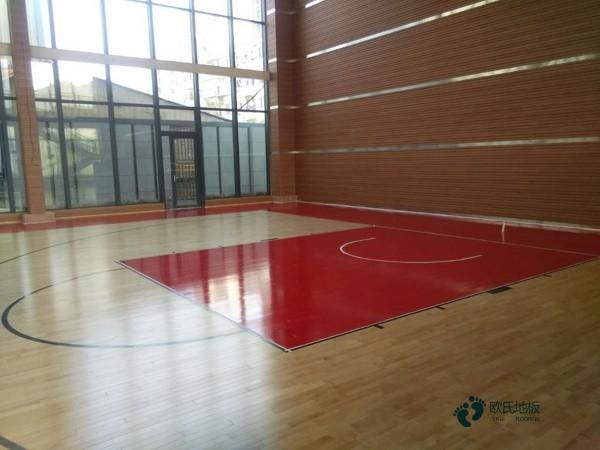 学校篮球馆木地板施工技术