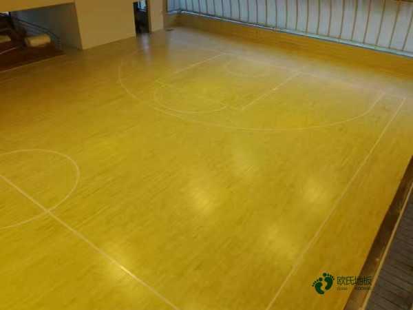 拼接板NBA篮球场木地板每平米价格