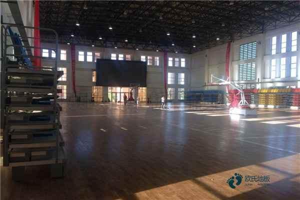 24厚运动篮球地板翻新施工