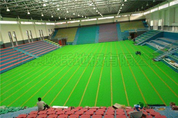 介绍体育馆的木地板