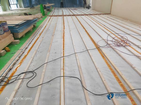 篮球场木地板铺装毛地板