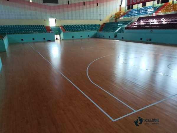 品牌厂家篮球运动木地板24厚