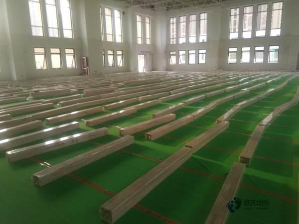 柞木篮球场木地板保养