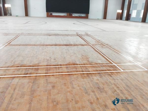 体育木地板色差解决办法