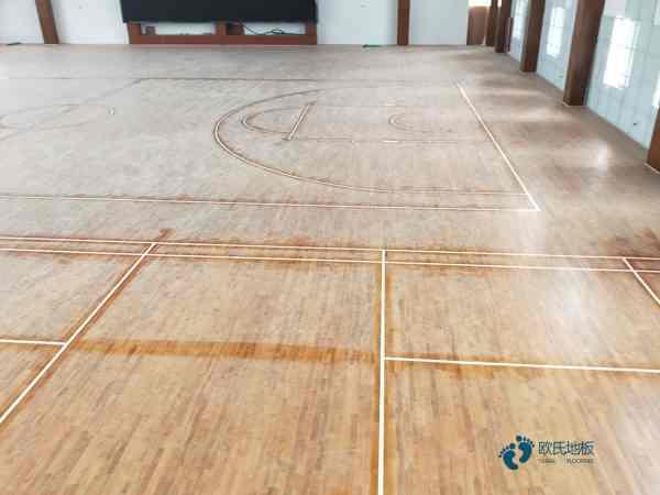 硬木企口羽毛球馆木地板单层龙骨结构