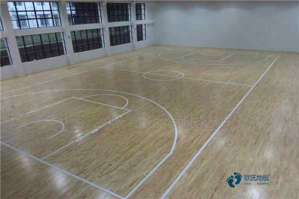 室内篮球实木运动地板维修