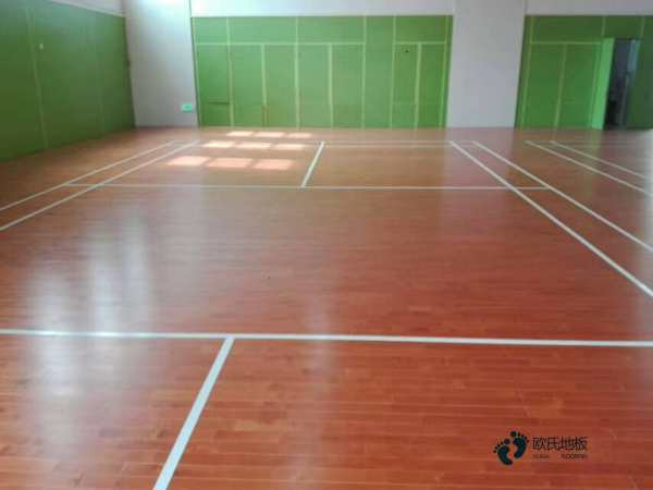 西藏硬木企口体育场地板图片