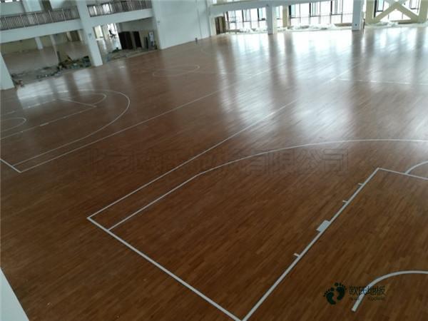 20厚篮球馆木地板单层龙骨结构