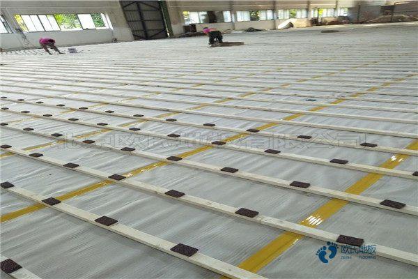 枫桦木体育馆木地板安装工艺