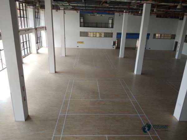 训练馆篮球场地板施工方案