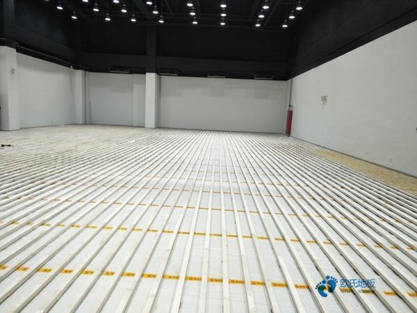 弹性体育场木地板1