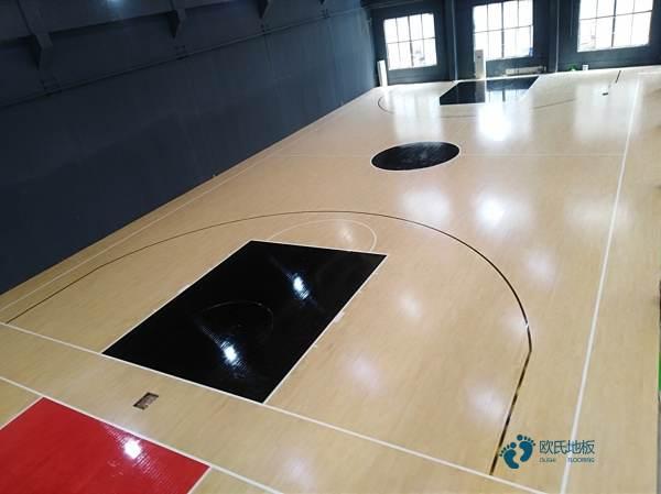 悬浮体育场地木地板1