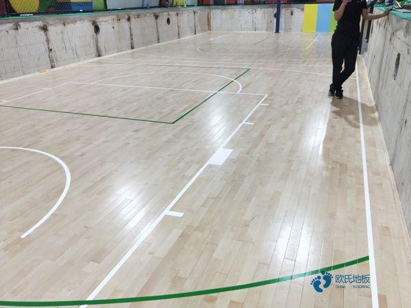 枫木排球馆木地板施工技术方案