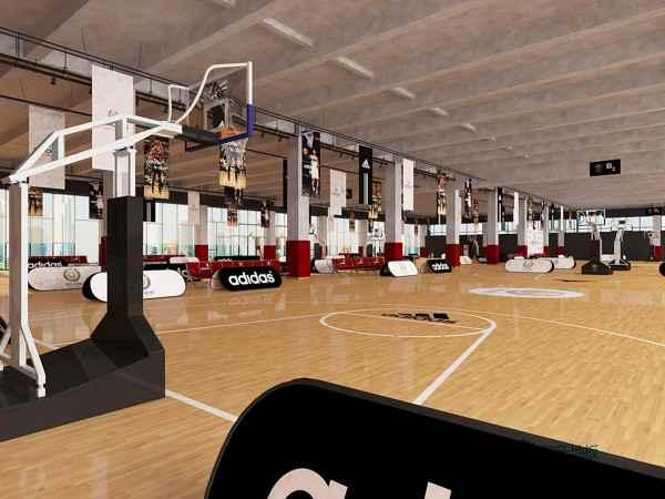 专用篮球场地板图片