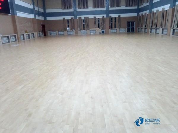 济南柞木篮球木地板怎么安装