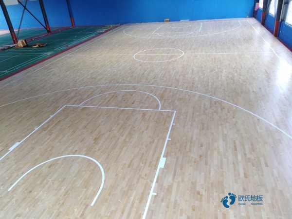 规格枫木篮球运动木地板