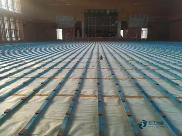 硬木企口篮球运动地板结构