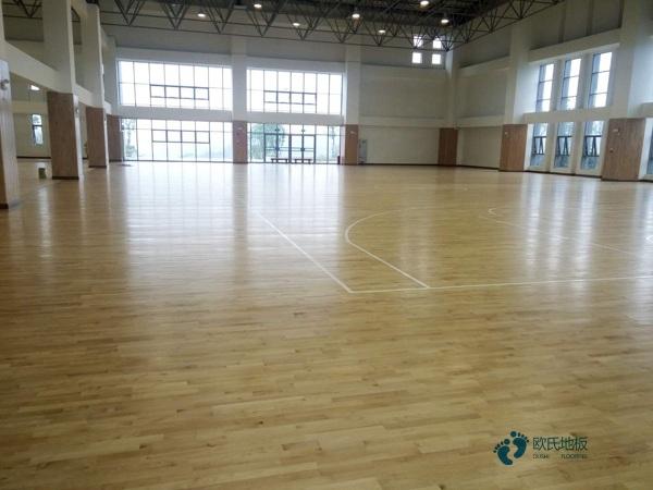 安装工艺篮球运动木地板柞木