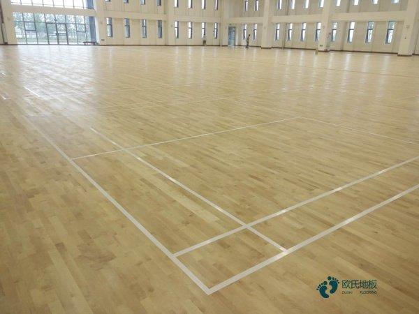 体育运动地板硬木企口怎么维修?