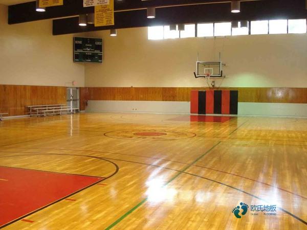 柞木篮球馆地板翻新