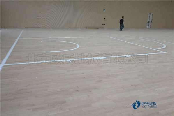 那有篮球运动木地板节点