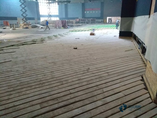 陕西硬木企口体育场地板厚度