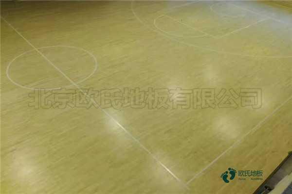 学校篮球馆地板安装