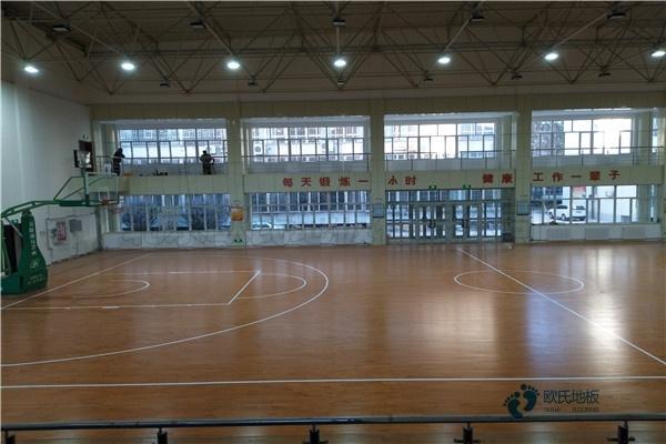 五角枫篮球场实木地板怎么维修?