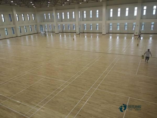 常德体育馆地板安装