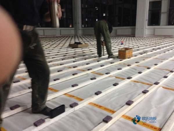 普通篮球场馆地板施工团队