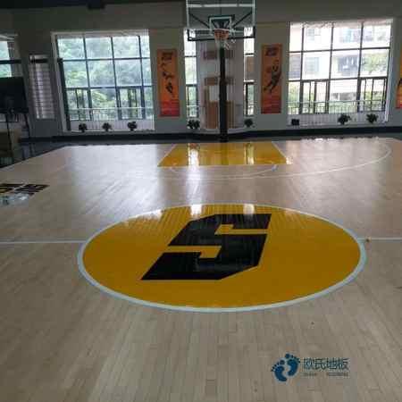 普通篮球馆地板施工
