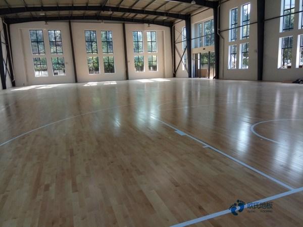 普通篮球馆地板施工流程
