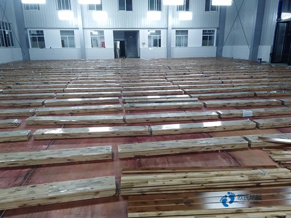 柞木体育场木地板维修