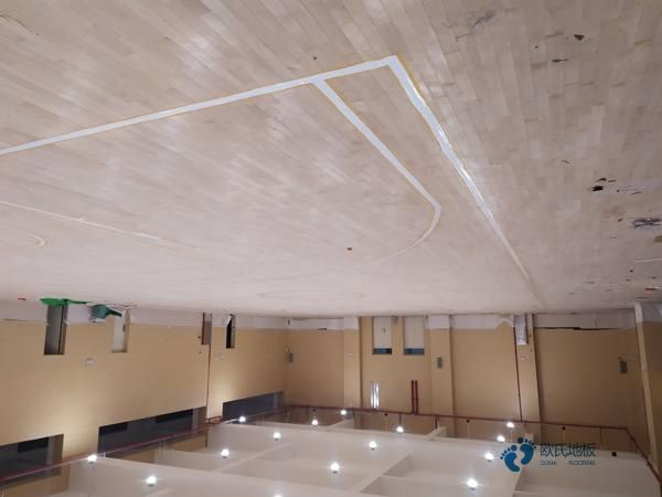 辽宁柞木篮球木地板每平米价格
