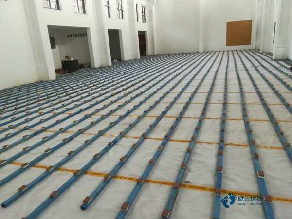 普通运动场木地板施工队