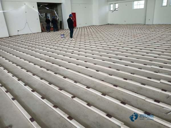 室内篮球地板安装