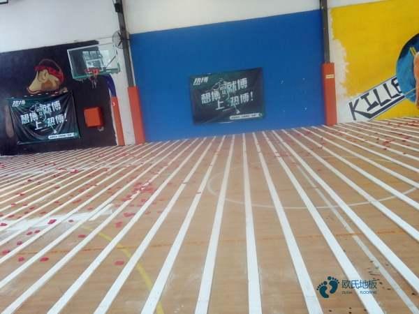 常用的篮球馆地板施工