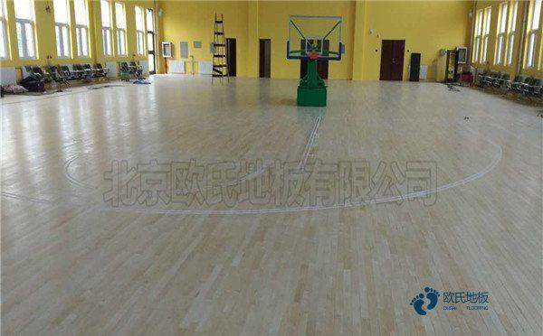 小学篮球运动木地板2