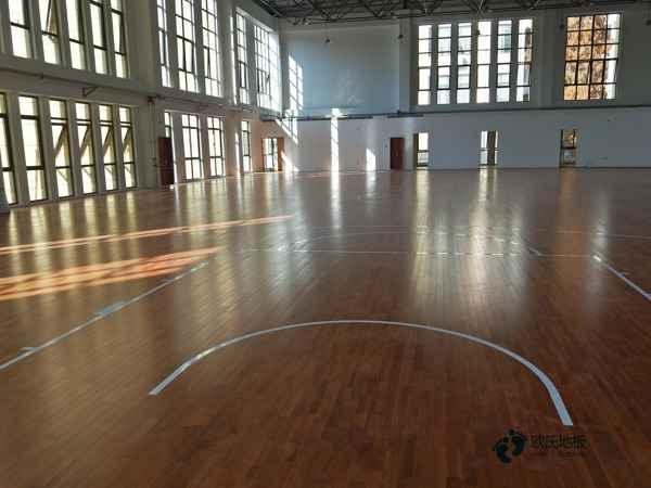 柞木安装工艺篮球馆木地板