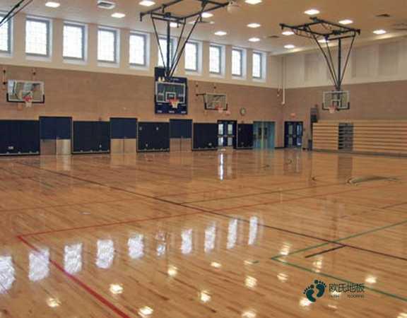 板式龙骨篮球场地木地板安装公司