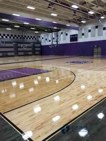 板式龙骨篮球运动木地板安装公司