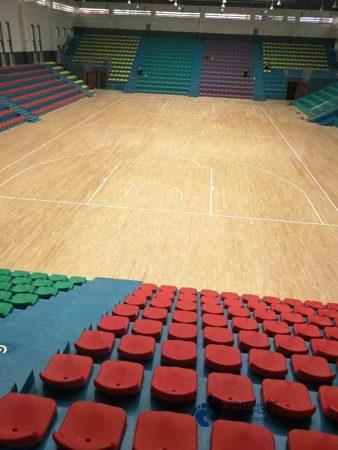 呼和浩特柞木体育场地板施工工艺