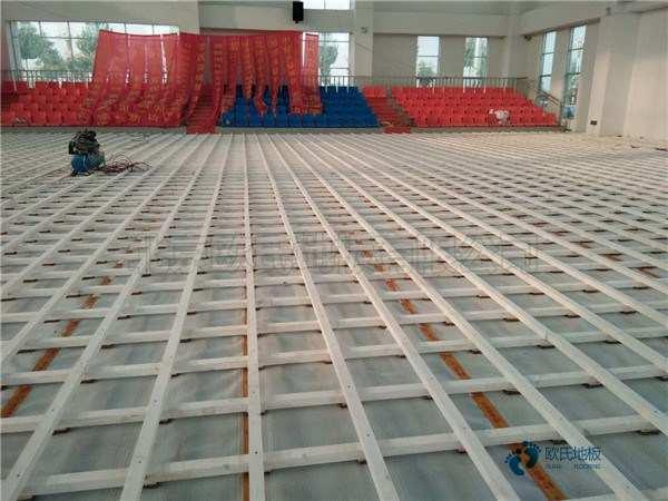 室内篮球馆地板翻新