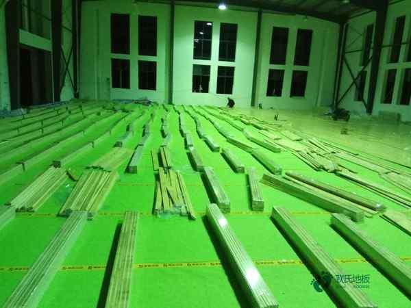 硬木企口舞蹈房木地板施工方案