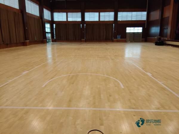 45度斜铺龙骨篮球馆木地板