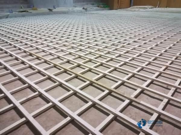 24厚排球馆木地板板式龙骨结构