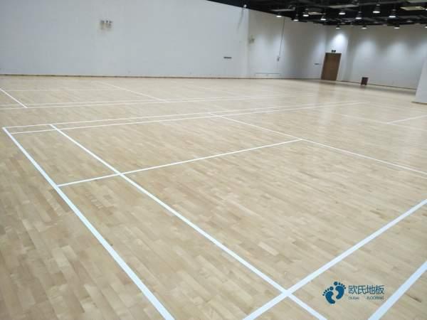 硬木企口体育馆实木地板单层龙骨结构