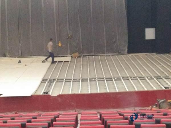 硬木企口体育运动地板安装