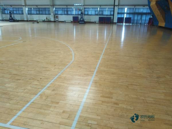 陕西企口篮球木地板多少钱一平方